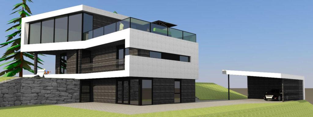 Tilpasning av bolig til tomt funky funkis for Funkis house
